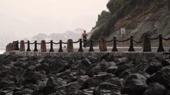 Jogging People, Golden Gate Bridge, San Francisco Jogging (Cities) Stock Footage
