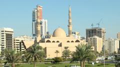 Al Etihad Square in Sharjah City, UAE Stock Footage