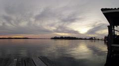 Lake Butler Sunset Time lapse 1 20 2014 Stock Footage