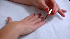 Nail polish Stock Footage