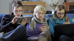 Family, Communication Problems Stock Footage