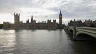Stock Video Footage of Houses of Parliament time lapse