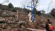 Stock Video Footage of Our Lady of Medjugorje  _ faithful