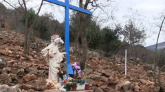 Our Lady of Medjugorje Stock Footage