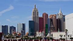 Las vegas city resort casinos long shot 1 Stock Footage