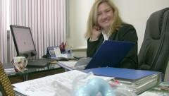 Portrait of a smiling businesswoman 2 Stock Footage
