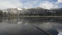 Silver Lake Pan Left to Right Stock Footage