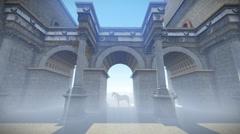 Roma Gate - stock footage