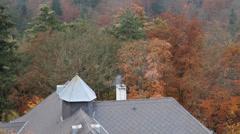Roof aerials. Chimney. Stock Footage