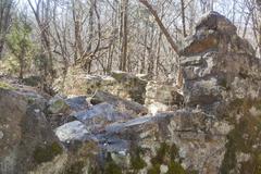 stonewall ruins - stock photo