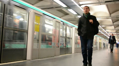 Paris Metro (AKA Metropolitain) on January 02, 2014 in Paris, France, - stock footage
