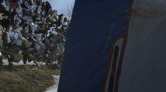 Heidelberg Project: Shoes On Fence, Detroit Michigan - stock footage