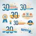 Stock Illustration of Set of Anniversary-30 emblems