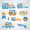 Stock Illustration of Set of Anniversary-60 emblems