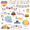 Stock Illustration of Set of celebration design elements