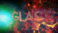 Stock Video Footage of 3D Glass Intro