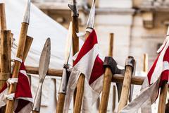 medieval arsenal - stock photo