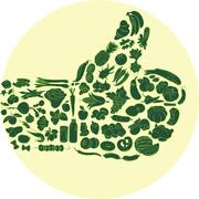 Food thumb up Stock Illustration