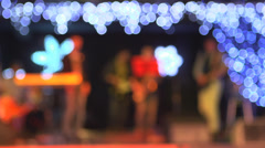 Singers and musicians performing on stage. Background - stock footage