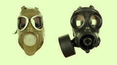 Gas mask sequence Stock Footage
