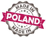 Stock Illustration of made in poland pink grunge seal
