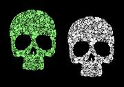Stock Illustration of floral human skull