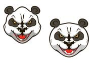 Stock Illustration of angry panda bear