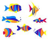 Stock Illustration of abstract colorful aquarium fishes