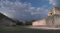Ancient Mayan football field.Chichen itza Stock Footage
