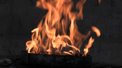 Eternal flame Sarajevo Stock Footage