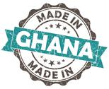 Stock Illustration of made in ghana blue grunge seal