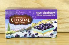Box of celestial seasonings true blueberry tea Stock Photos