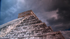 Stock Video Footage of Maya Pyramids-Timelapse