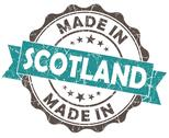 Stock Illustration of made in scotland blue grunge seal