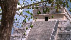 Temple of Kukulkan.Pyramids in Mexico Stock Footage