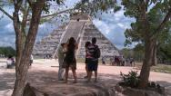 Stock Video Footage of Ancient Mayan civilization. Chichen Itza pyramids