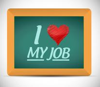 I love my job message illustration design Stock Illustration