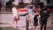 Stock Video Footage of Kids Doing The Twist In The Driveway-1962 Vintage 8mm film