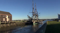 Salem Maritime National Historic Site, Salem, Massachusetts Stock Footage