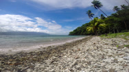 Stock Video Footage of Tropical rocky shoreline
