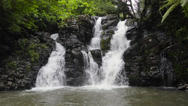 Stock Video Footage of Waterfall in Fiji
