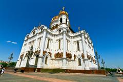The Cathedral of Christ the Saviour in Moscow, Russia. - stock photo