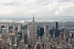 Manhattan and Empire State building, New York, USA Stock Photos
