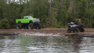 Stock Video Footage of Monster Truck Mud Bog 6