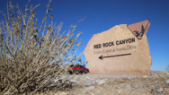 Stock Video Footage of Red Rock Canyon Sign