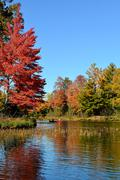 Canoeing in the Fall Stock Photos
