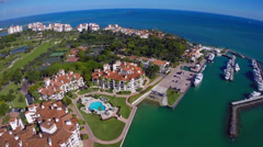 Aerial video footage of Fisher Island Stock Footage