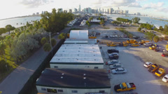 Aerial footage of an industrial facility Stock Footage