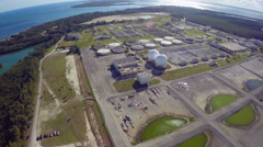 Virginia Key water treatment plant Stock Footage