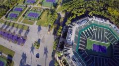 Crandon Park Tennis Stadium Stock Footage